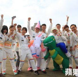 5千跑者化身太空人 新竹街頭「漫」跑