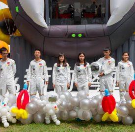超人出任務 國慶到新竹太空漫跑