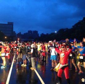 超人路跑 上千人為國家慶生
